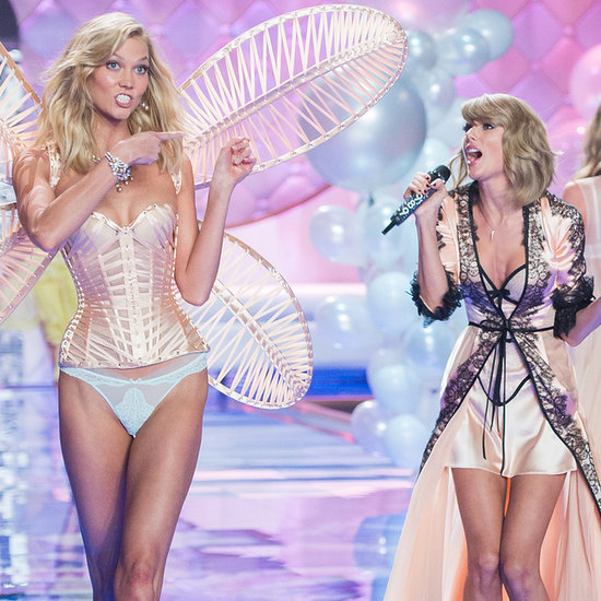 Taylor Swift and Karlie Kloss at 2014 Victoria's Secret Show