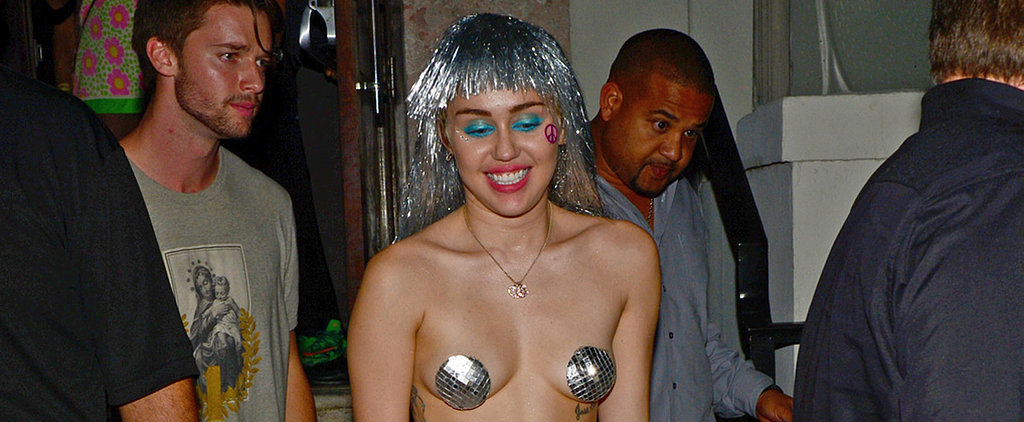 Miley Wears Nothing but Pasties For a Night Out With Patrick