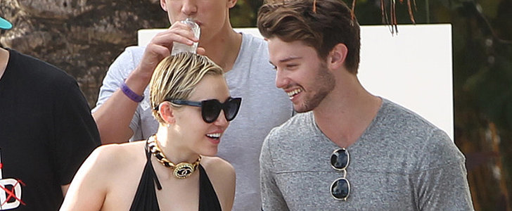 Miley Cyrus and Patrick Schwarzenegger Heat Things Up Poolside in Miami
