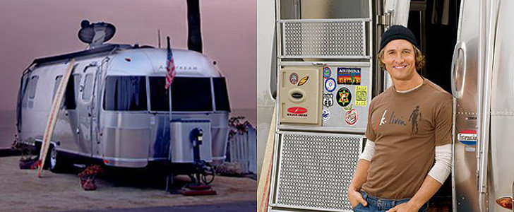 Peek Inside Matthew McConaughey's Airstream Trailer