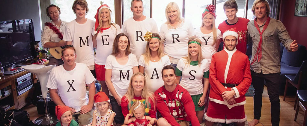Guy Turns Family Christmas Photo Into Adorable Proposal