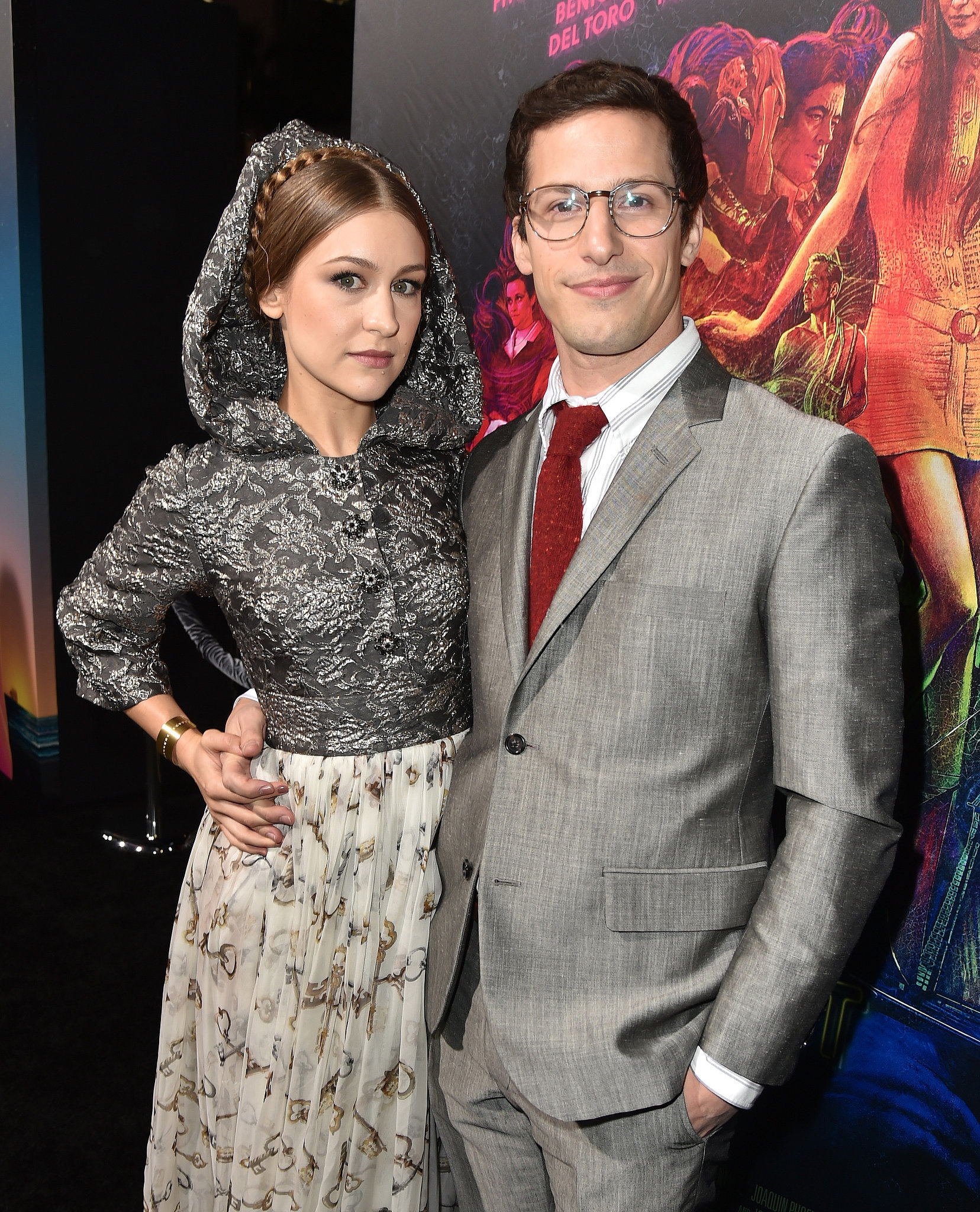 Andy Samberg and his wife, musician Joanna Newsom, posed ...