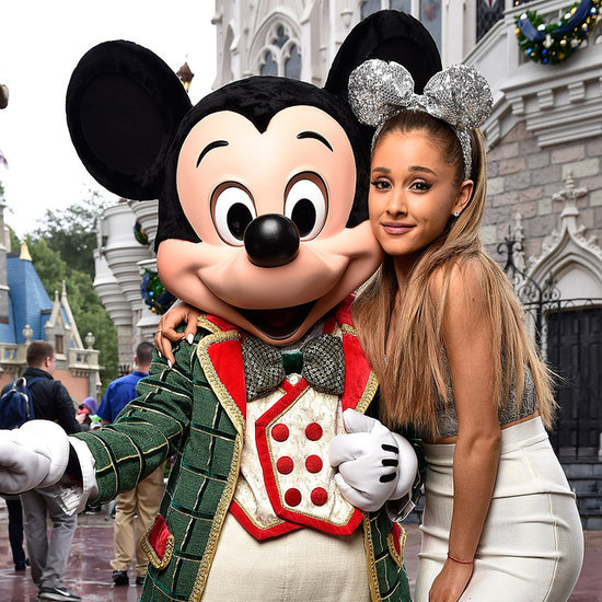 Ariana Grande Style Wearing Minnie Mouse Ears