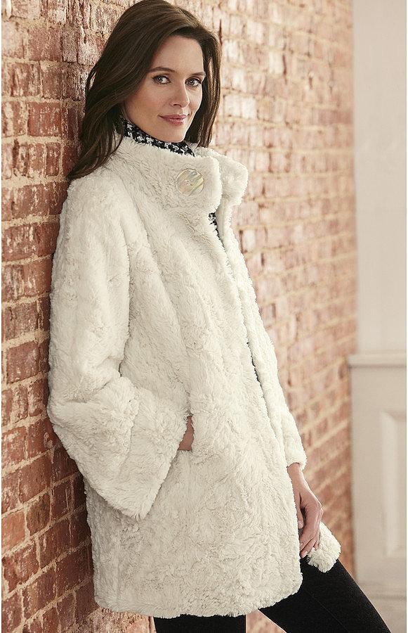 amp murphy faux fur swing coat a coat like gigi s means you don t