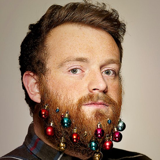 Men Wearing Beard Baubles This Christmas