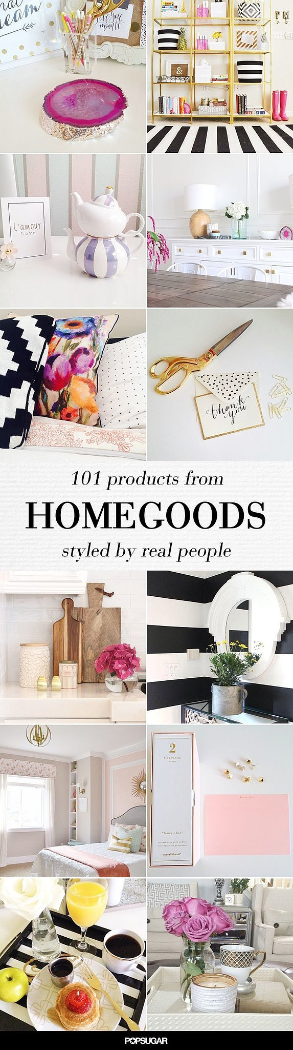 Amazing homegoods pieces 10 home decor ideas you 39 ll want to pin immediately popsugar home Home decor home goods