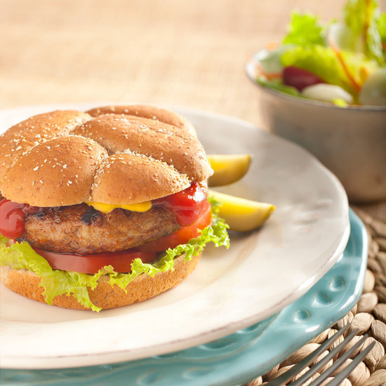 Healthy Burger and Salad Recipe