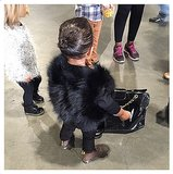 North West Carrying a Chanel Bag