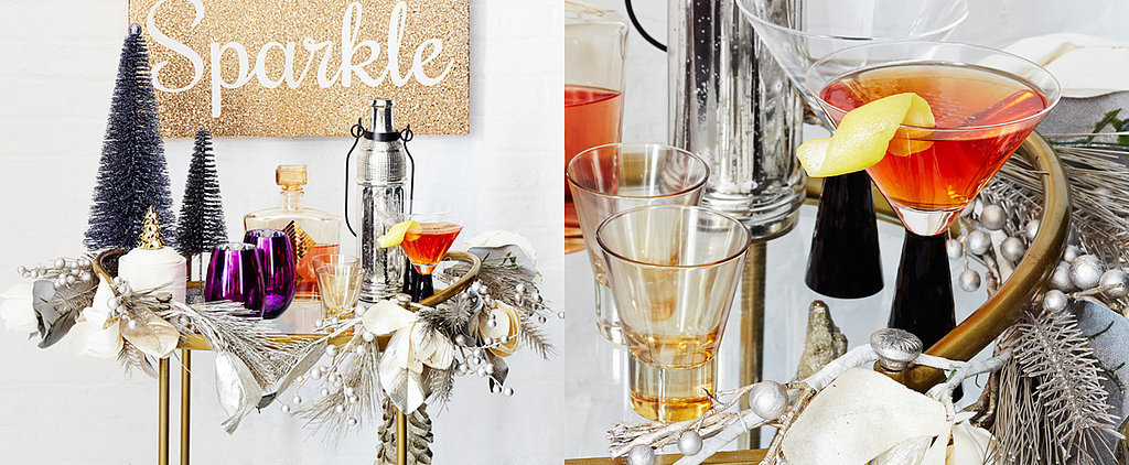 3 Bar Carts (and Matching Cocktails) That Will Wow on NYE