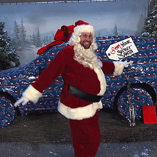 John Krasinski Dancing in a Santa Suit