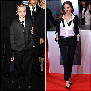 Angelina Jolie and Shiloh Jolie-Pitt Wearing Suits