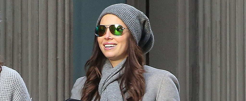 Jessica Biel Brings Her Bright Smile and Rumored Baby Bump to NYC