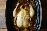 Whole Slow Cooker-Poached Chicken