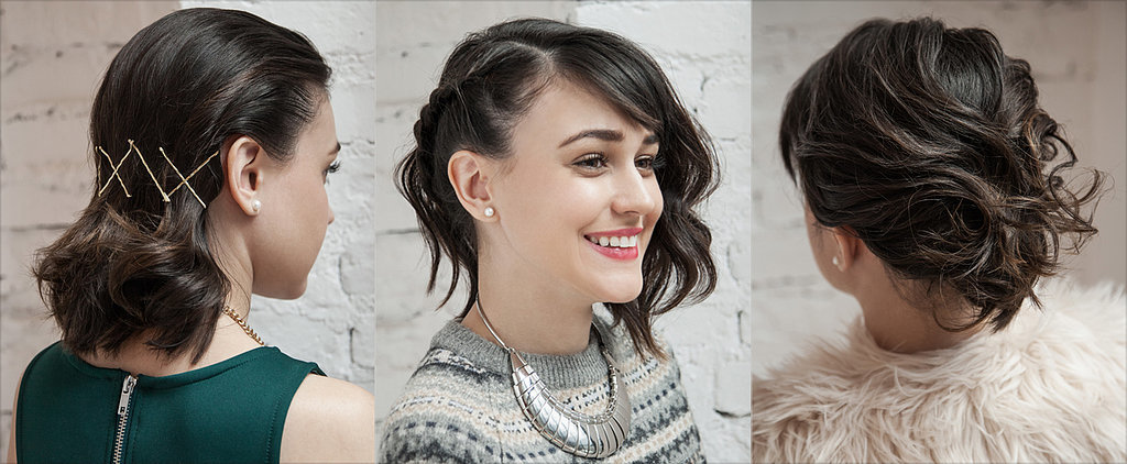 3 Parties, 3 Holiday Hairstyles For Shoulder-Length Locks