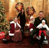 Stephen Amell & Family Visit Santa Claus