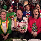 One Direction Singing Santa Claus Is Coming to Town