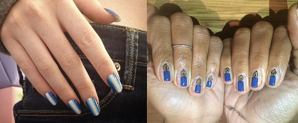 Celebrate the Last Days of Hanukkah With These Holiday Nail Art Looks