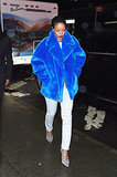 "Rihanna Stepped Out in ""Smurfette Couture"" While Christmas Shopping"