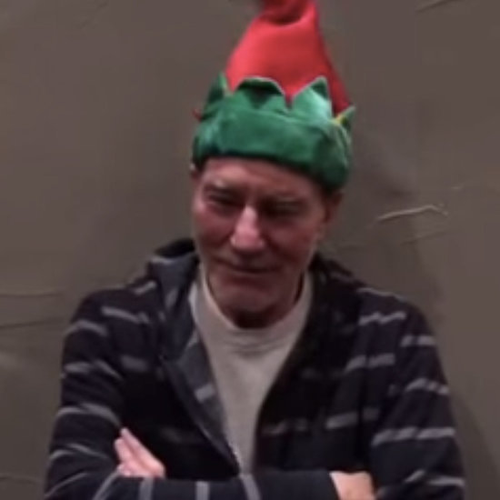 Patrick Stewart Wears a Dancing Christmas Hat 2014