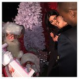 North West Meets Santa Claus | Pictures
