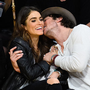 Ian Somerhalder and Nikki Reed Kissing at Lakers Game