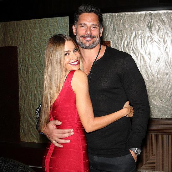 Sofia Vergara and Joe Manganiello on New Year's Eve 2014
