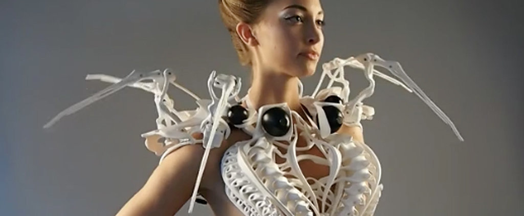 This Futuristic Dress Looks Like It Escaped From a Tim Burton Movie