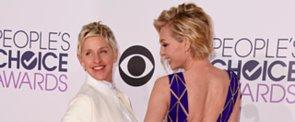 Ellen DeGeneres and Portia de Rossi Strike a Pose on the PCAs Red Carpet