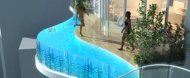 Whoa, These Luxury Condos Have a Private Pool on Every Balcony!
