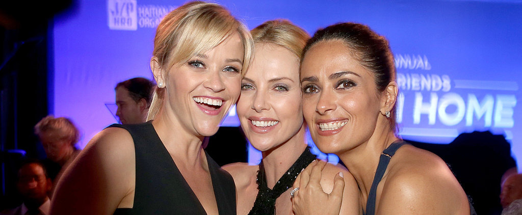 Reese, Charlize, and Salma Let Loose on a Charitable Night Out