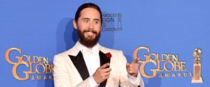 Jared Leto Returns To the Golden Globes With a Man Braid