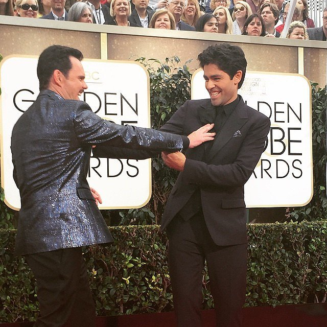 Drama and Vince clowned around on the carpet.