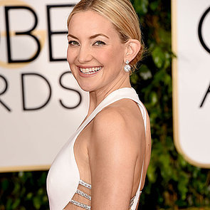 Kate Hudson In Sexy White Versace Dress 2015 Golden Globes