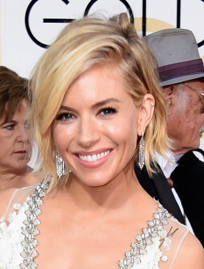 Sienna Miller in Miu Miu at the Golden Globes January 2015