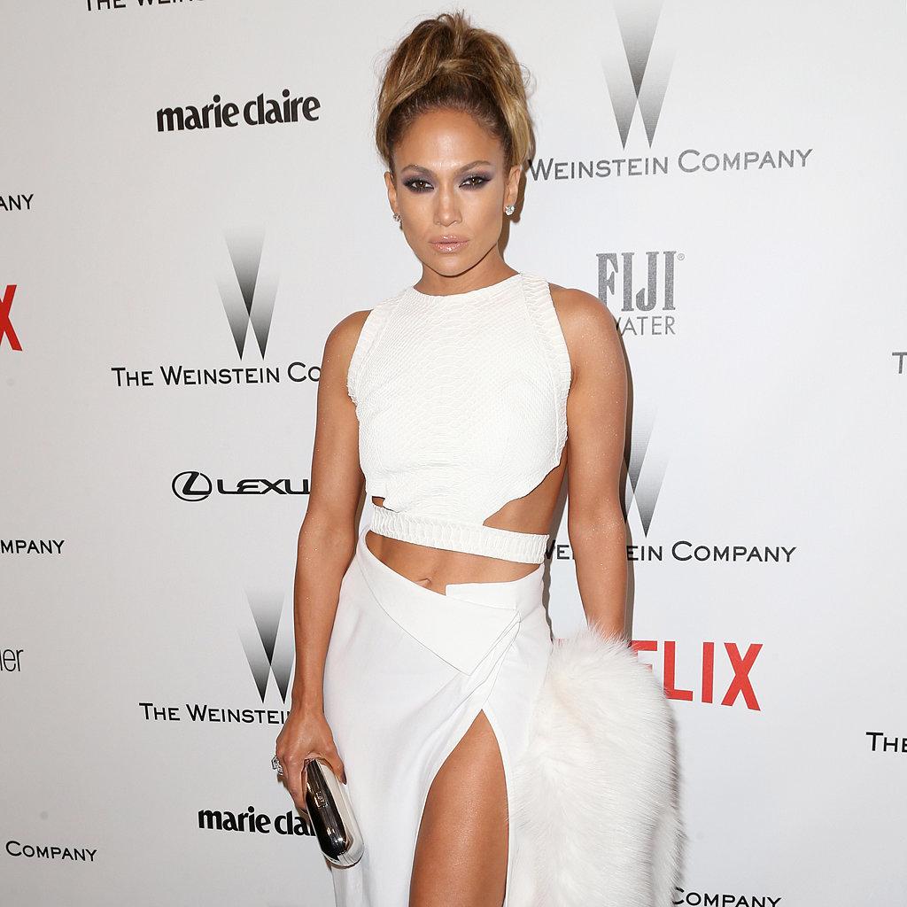Jennifer Lopez At The Golden Globes After Party 2015 Popsugar Fashion