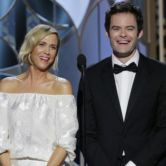 Kristen Wiig and Bill Hader at Golden Globe Awards 2015