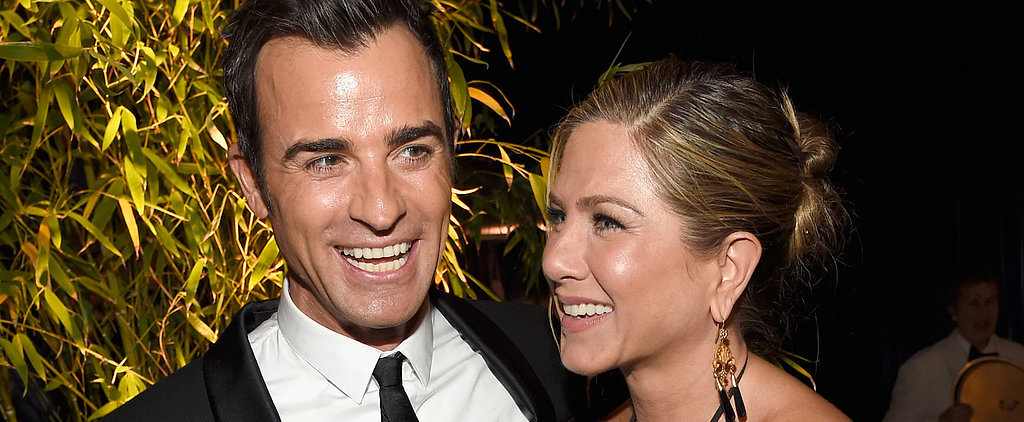 Jennifer Aniston and Justin Theroux Have a Supersmiley Globes Night