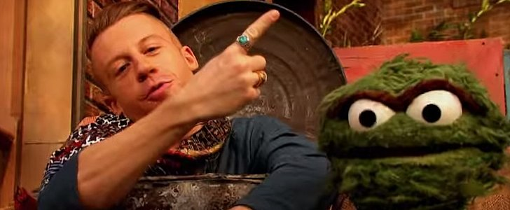 Watch Macklemore and Oscar the Grouch Go Thrift Shopping