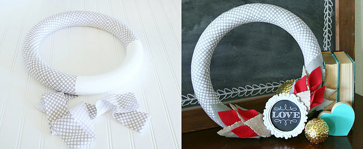 DIY This Festive Felt Wreath in Time For Valentine's Day