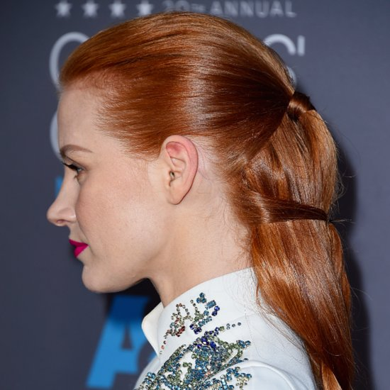 Jessica Chastain's Braided Hair at the Critics' Choice