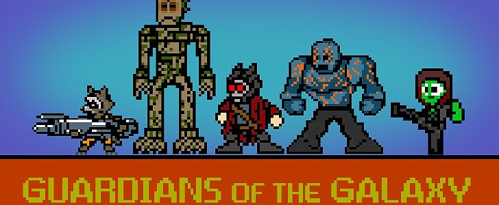 Guardians of the Galaxy in 8-Bit Is the Best Thing You'll See Today