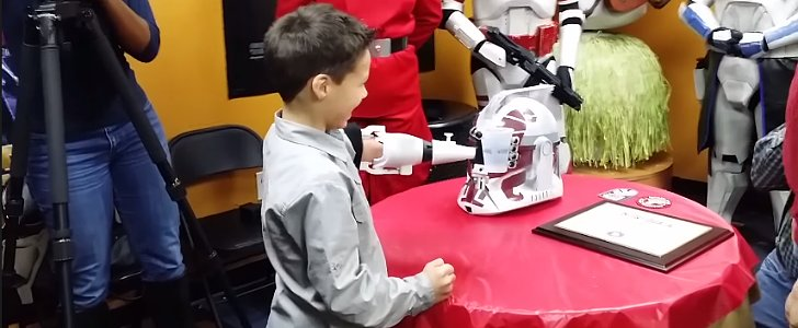 Watch a Little Star Wars Fan Receive a Special Prosthetic Arm