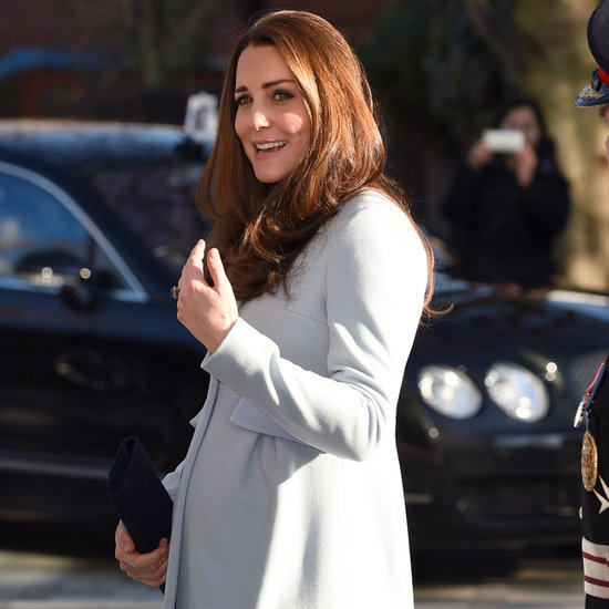 Pregnant Kate Middleton at Kensington Leisure Centre