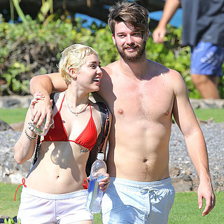 Miley Cyrus and Patrick Schwarzenegger in Maui, Hawaii