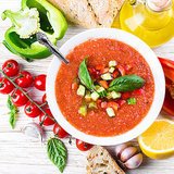 Healthy and Delicious Gazpacho Cold Soup Recipe