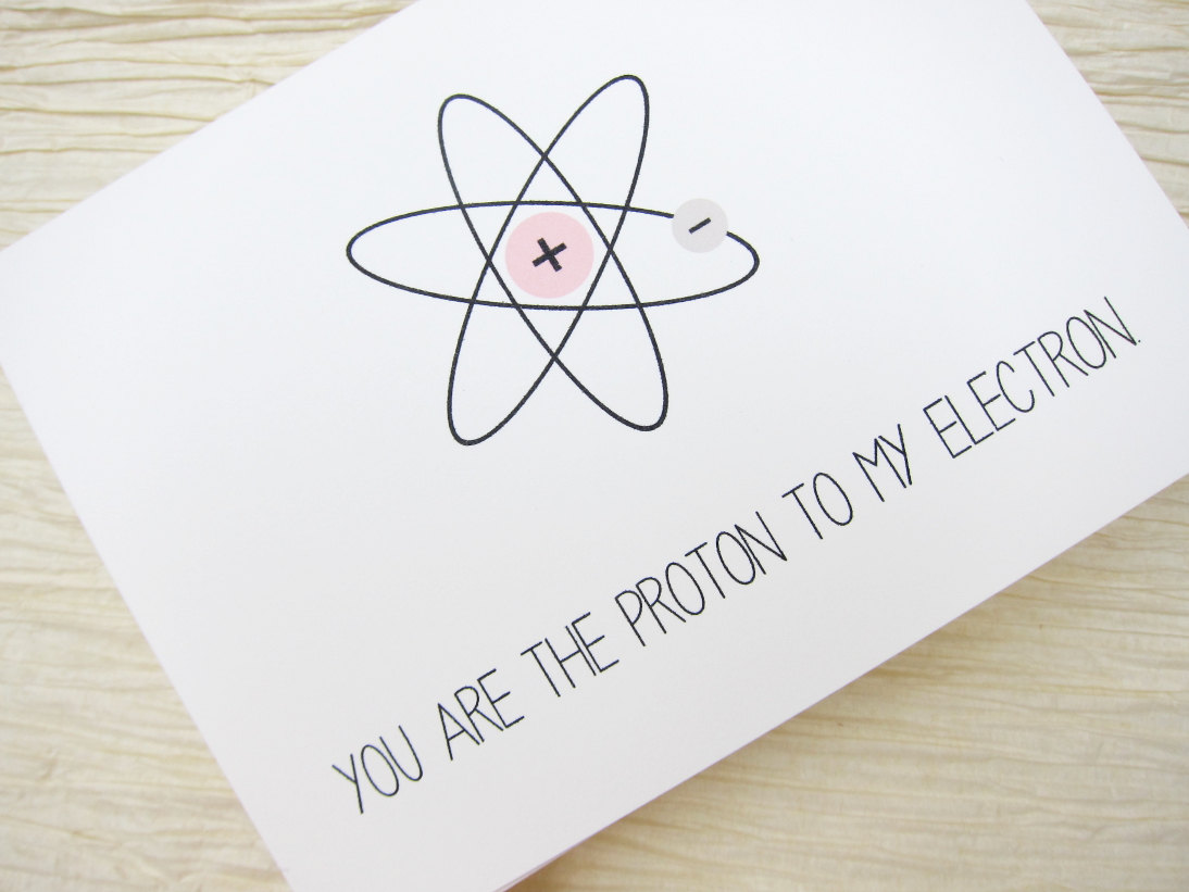 This cute card ($4) confirms it — you just make scientific sense together.