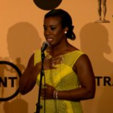 Uzo Aduba in the SAG Awards Press Room 2015