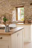 Historic Stone Barn Now a Country Farmhouse Kitchen (10 photos)