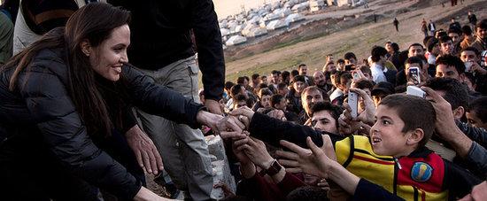 Angelina Jolie Gets Big Grins From Kids at a Refugee Camp
