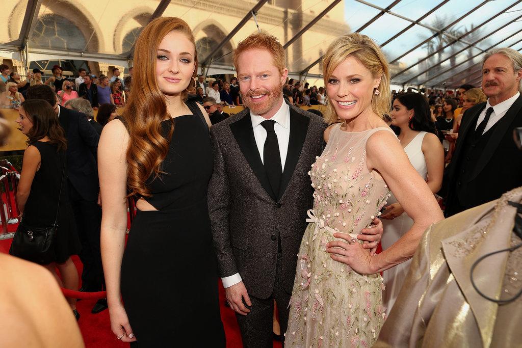 Sophie Turner (Sansa Stark) With Julie Bowen and Jesse Tyler Ferguson